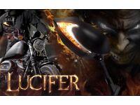 Lucifer Black LED Mirrors For M10 Metric Bike