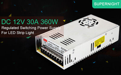 Supernight Regulated Power Switching Supply 12v Dc 30a 360w For Led Strip Light