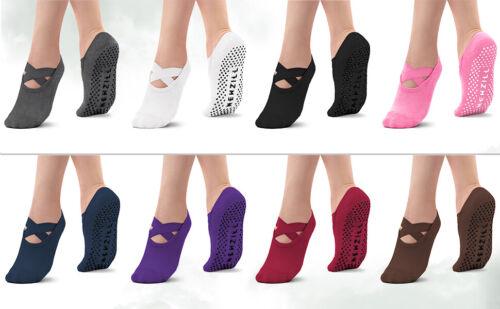 ⭐️Newzill Yoga Socks Women Non-slip Straps Pilates Workouts Dance Home   3 PAIR⭐