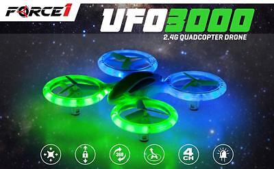 Force1 Bright LED Quadcopter Drone LATEST UFO3000 Easy Fly RC Drone for...