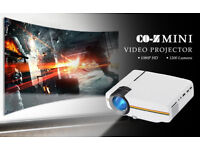 BRAND NEW,CO-Z Mini Video Projector 1200 Lumens Support 1080P for Home Theater Cinema