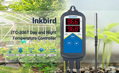Inkbird Temperature Controller Digital Heater Thermostat Itc-306t Dual Output