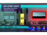 LED Strip Lights Kit 32.8ft 10M, 5050 RGB Music Colour Changing Lights, APP Control