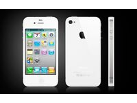 Apple iphone 4s white as new and unlocked