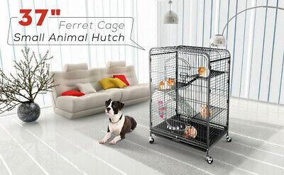 37'' 4 Level Indoor Ferret Rabbit Cage Small Animals Hutch Habitat w/ Feeder for sale  Fontana
