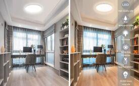 Waterproof 24W LED Flush Ceiling Light (2000W Equivalent)