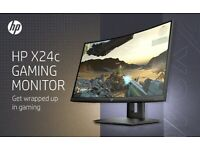 HP X24c Gaming Monitor, 1500R Curved Gaming Monitor in FHD Resolution with 144Hz Refresh Rate