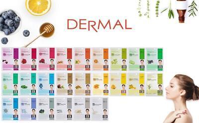([DERMAL] Collagen Essence Facial Mask Sheet - 1/3/5/10 Sheet)