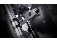 Motorcycle Head Lamp Light Bracket Mount Black 30~38mm Fork Clamp On