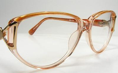 Smart & Sexy Women's 90's Fashion Eyeglass Frame Brown Marble Upswept Lines 53