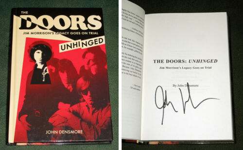 """JOHN DENSMORE signed Autographed """"THE DOORS UNHINGED"""" HARDCOVER BOOK COA"""