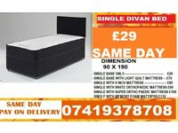 SINGLE DAVAN BED WITH MEMORY FOAM