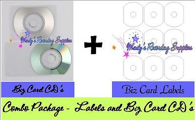 Biz Business Card Cd (Biz Business Card 50mb CD with Matte Labels & Sleeves 10 Pack)