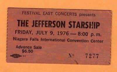 1976 Jefferson Starship Billy Joel Concert Ticket Stub Niagara Falls NY