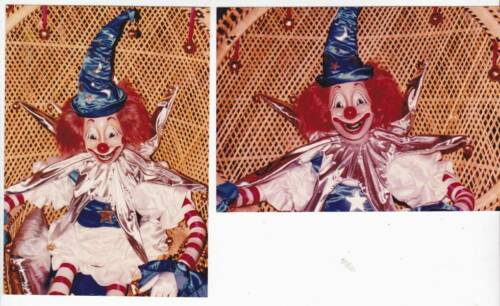 LOT 2: Vintage 1982 photos of the original clown puppet in the movie POLTERGEIST