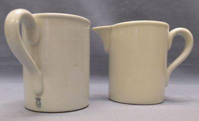 2 alte Milchkännchen Sahnekännchen Krüge von Schierholz Porzellan antik Art Deco
