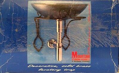 MOUNTAIN PLUMBING MT 1000/CPB DECORATIVE LAVATORY TRAP POLISHED CHROME New Decorative Lavatory Trap