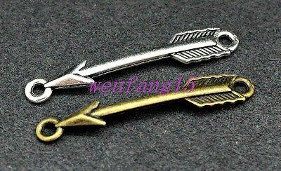 Charms connector zinc alloy Love Arrow fit diy bracelet necklace