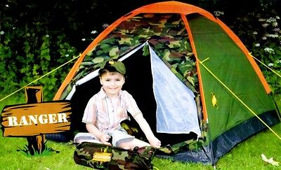 Wehncke RANGER Zelt Domzelt Kinderzelt 2 Personen Campingzelt Spielzelt 170x120
