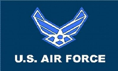 3 X 5 Flag US AIR FORCE 3'X5' USAF 3 Foot X 5 Foot NEW LOGO Polyester NWT New