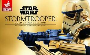 Hot Toys Star Wars Sixth Scale Stormtrooper Gold Chrome Version Lidcombe Auburn Area Preview