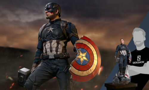 Iron Studios 1/4 Scale Captain America Replica Statue - 904749