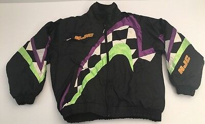 Vtg HJC Racing Jacket Cirolux Snow Gear Heavy Coat 90's Checkered Large L Ski