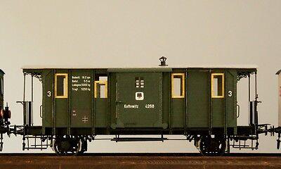 Modelik 02/14 - Eisenbahnwagen Fakultativwagen + Lasercutteile