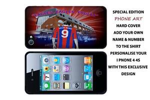 PERSONALISED  CRYSTAL PALACE FC IPHONE 4 /4S HARD BACK CASE