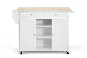 modern white lacquered kitchen cart center island storage cabinet