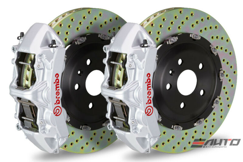 Brembo Front Gt Brake 6pot Silver 365x34 Drill Disc For Benz Cla250 A250 Gla250