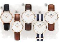 Daniel Wellington Watch Leather/Nylon Straps BIG CLEARANCE
