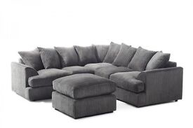 LEATHER SEATS🚚 🚛LIMITED TIME OFFER/BRAND NEW JUMBO CORD BYRON CORNER/3+2 SOFA IN MULTIPLE COLORS