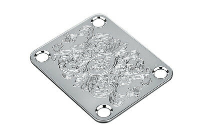 Parts Neck Plate (NEW Gotoh Engraved NECK PLATE for Fender Strat Tele Chrome Parts AP-0603-010 )