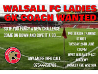 GOALKEEPING COACH WANTED