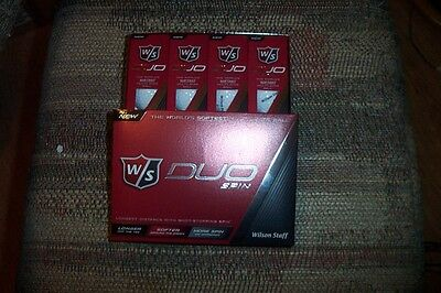 2 dozen BRAND NEW 2015 Wilson Staff  Duo Spin  golf balls