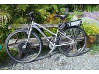 6d0db19db3a Ladies electric bike silver, converted Marin Larkspur small, used, good  condition
