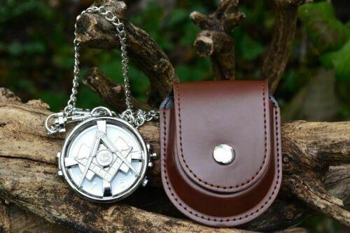 Masonic Pocket Watch with Spin Top - Freemasons - Mason - Square and Compass NEW