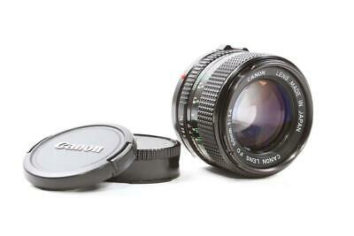 Used Canon New FD 50mm f/1.4 Prime Manual Focus Lens w/ Hood and Caps
