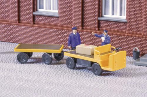 Auhagen 43659 Tt Gauge, Electric Cart with Trailer # New Original Packaging #