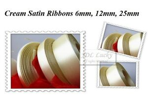 30mtrs SATIN RIBBONS 6mm, 12mm, 25mm Many Colours FREE DELIVERY