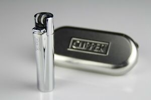 FULL-SIZE-POLISHED-CHROME-METAL-CLIPPER-LIGHTER-BRIGHT-SILVER-COVER-CLASSIC