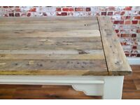 Reclaimed Tropical Hardwood Extendable Rustic Farmhouse Dining Kitchen Table - Seats 6-12