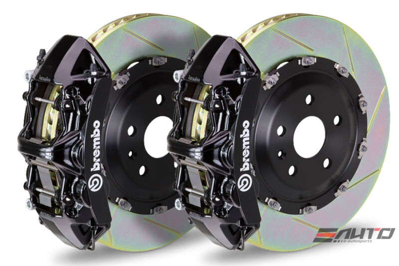 Brembo Front Gt Brake N Caliper Black 380x34 Slot Rotor Clk63 W209 Black Series