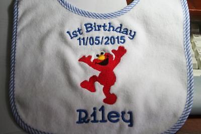 Monogrammed Baby or Toddler Bib Absorbant Terry Cloth Velcro Birthday (Monogrammed Terry Cloth)
