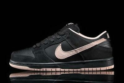 Mens Nike SB Dunk Low Pro Black Washed Coral (Nike Dunk Sb Low Dunk)