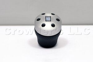 Nardi aluminum leather gear shift knob for opel volvo renault alfa