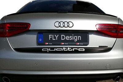 Audi A4 s4 Tuning Quattro Alerón Labio Posterior Carbono Look Slim Becqeut...