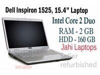 "Dell Inspiron 1525, 15.4"" Laptop, Intel Core 2 Duo, 2GB RAM, 160GB HDD - 0637"