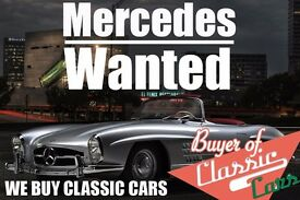 We Want Your Classic Mercedes! Sell your classic Mercedes for cash today!
